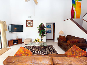 Comfortable Lounge with Large Screen TV